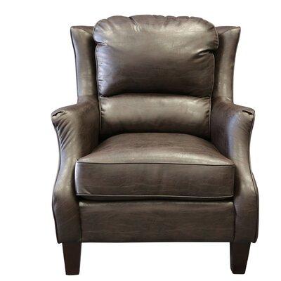 Garnet Bonded Arm Chair Color: Espresso Brown