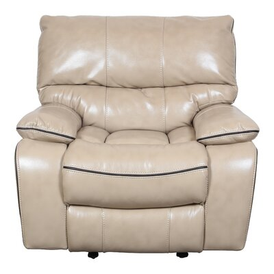Alameda Manual Glider Recliner Upholstery: Mushroom Cream