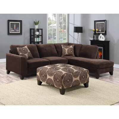 Reese Sectional Upholstery: Chocolate Brown