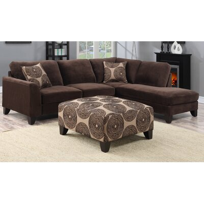 Malibu Sectional Upholstery: Chocolate Brown