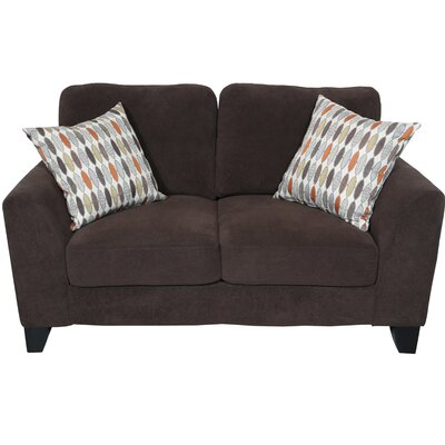 Curtis Loveseat Upholstery: Chocolate