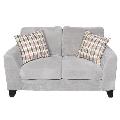 Curtis Loveseat Upholstery: Light Gray