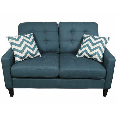 Hamilton Loveseat Upholstery: Deep Teal
