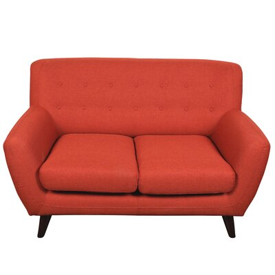 Conor Loveseat Upholstery: Pumpkin Orange