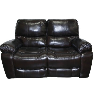 Gracehill Modern Leather Reclining Loveseat