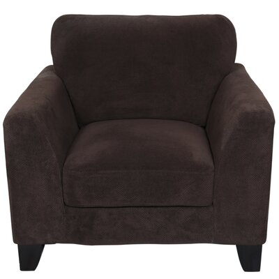 Curtis Armchair Upholstery: Chocolate Brown