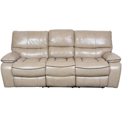 Alameda Reclining Sofa Upholstery: Cream Vegan