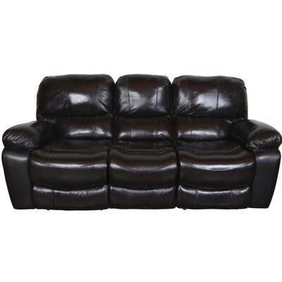 Gracehill Leather Reclining Sofa Upholstery: Black Cherry