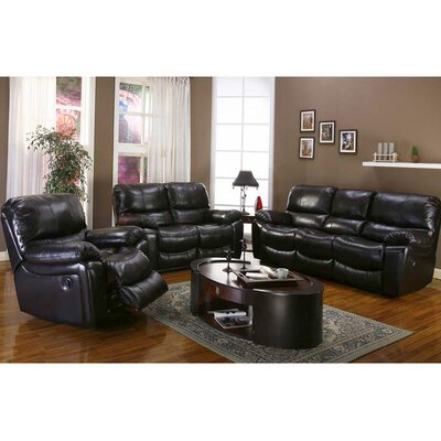 Three Posts TRPT1199 Gracehill Leather Living Room Collection