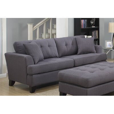 Norwich Sofa Upholstery: Charcoal Gray