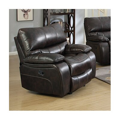 Alameda Recliner Upholstery: Brown / Black