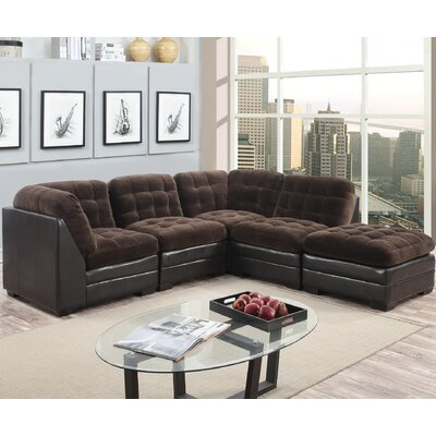 Morrison Modular Sectional Upholstery: Chocolate Brown