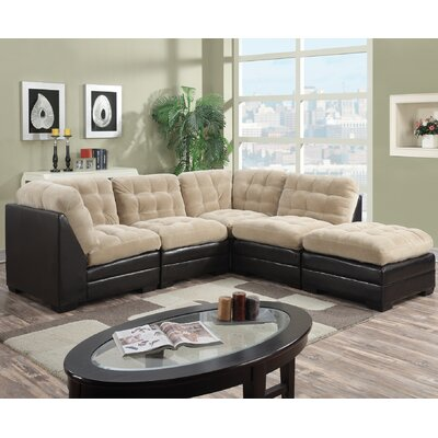 Morrison Reversible Sectional Upholstery: Toast Beige