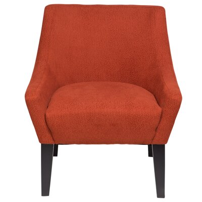 Lila Club Chair Upholstery: Brick Red