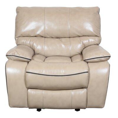 Alameda Recliner Upholstery: Cream / Brown