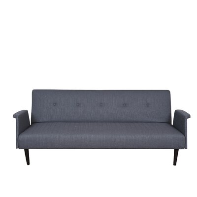 Sitswell Sleeper Sofa Upholstery: Black / Gray