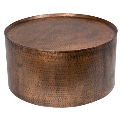 Rotonde Hammered Coffee Table Color: Antique Copper