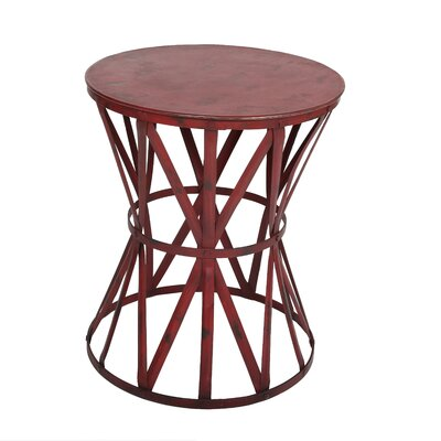 Truss Industrial Metal End Table