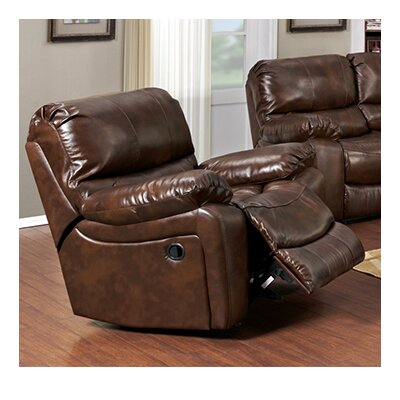 Marbletown Leather Glider Recliner Type: Manual