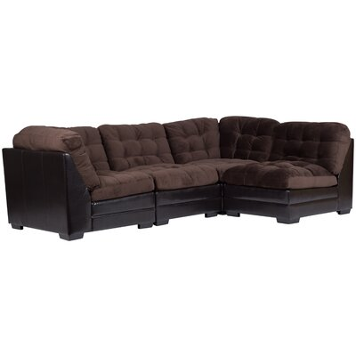 Morrison Reversible Sectional Upholstery: Chocolate Brown