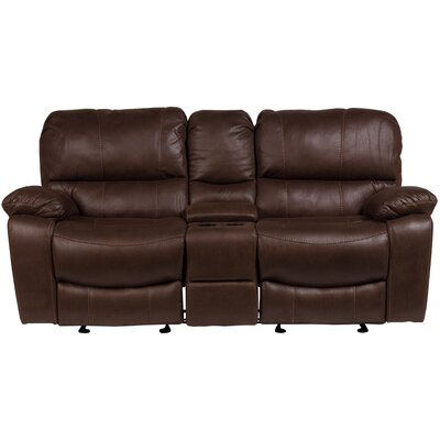 Gracehill Modern Solid Reclining Loveseat