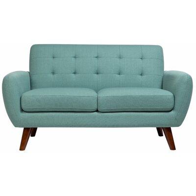 Craig Loveseat Upholstery: Teal