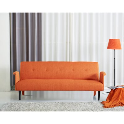 Sitswell Sleeper Sofa Upholstery: Orange