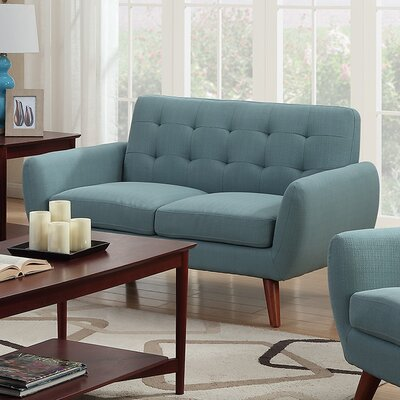 Craig Loveseat Upholstery: Teal