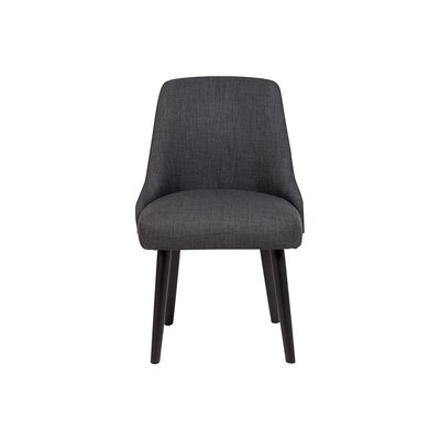 Bakersfield Upholstered Dining Chair Upholstery Color: Dark Gray