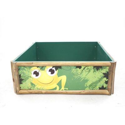 Frog 3.28' W Square Sandbox