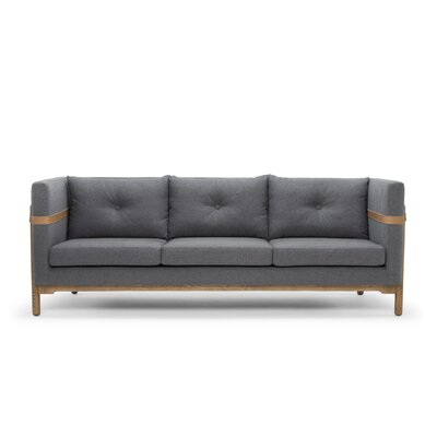 Solveig Classic Modern Leather Sofa