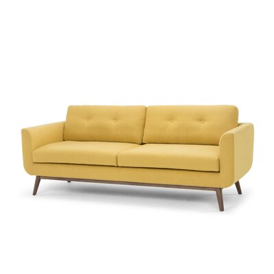 Lena Standard Sofa Upholstery: Curry Yellow