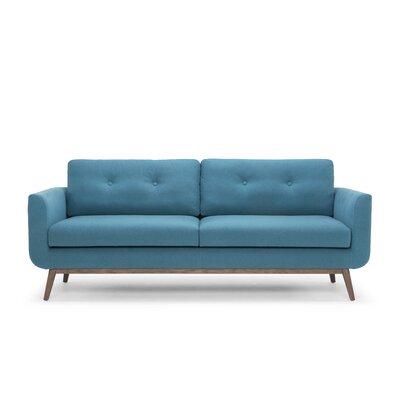 Lena Sofa Color: Aqua Blue