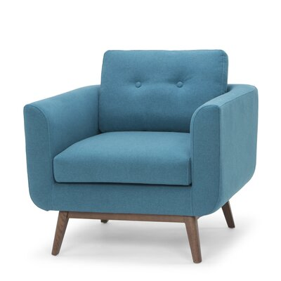 Lena Armchair Color: Aqua Blue