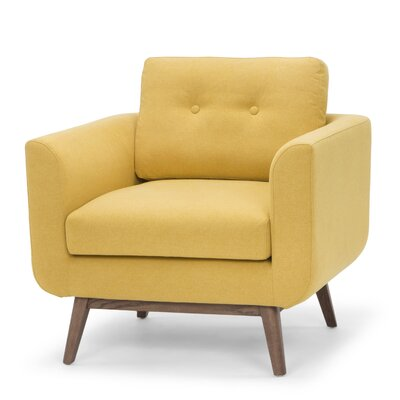 Freya Arm Chair Color: Curry Yellow