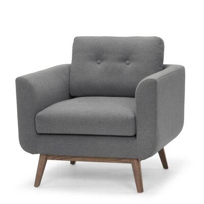Freya Arm Chair Color: Dark Gray