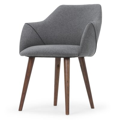 Gerald Upholstered Dining Chair Upholstery Color: Dark Gray