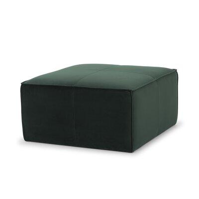 Simona Ottoman Upholstery: Forest Green Velvet