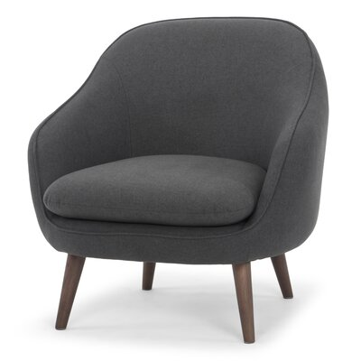 McCartner Barrel Chair Upholstery: Dark Gray