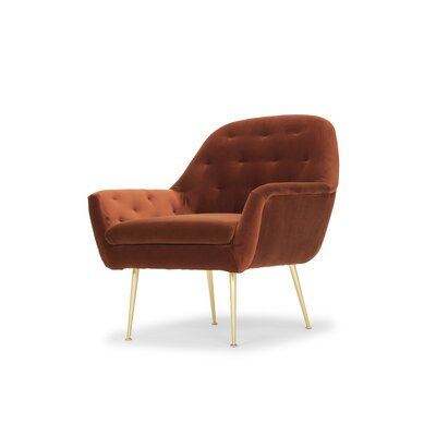 Ida Lounge Chair Upholstery: Rust Velvet Orange