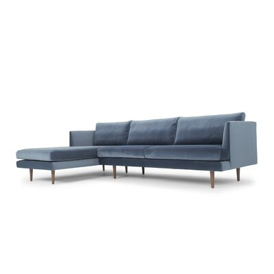 Hanna Velvet Sectional Direction: Left Facing
