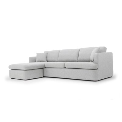 Ingeborg Reversible Sectional Upholstery: Light Gray