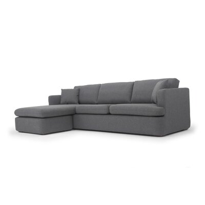 Ingeborg Reversible Sectional Upholstery: Dark Gray