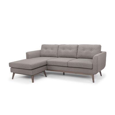 Solveig Reversible Sectional Upholstery: Brown