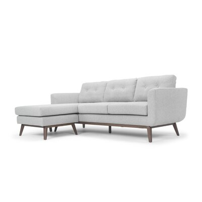 Solveig Reversible Sectional Upholstery: Light Gray