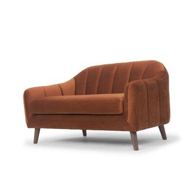 Boevange-sur-Attert Loveseat Upholstery: Rust Velvet