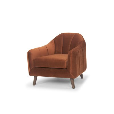 Boevange-sur-Attert Club Chair Color: Rust Velvet