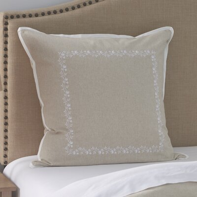 Laurel Wreath Embroidered Euro Sham