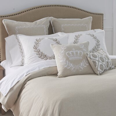 Laurel Wreath Duvet Cover Size: Full/Queen