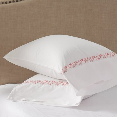 Coral Canvas Pillowcase Size: Standard